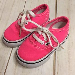 EUC PINK Vans Sneakers Toddler 4